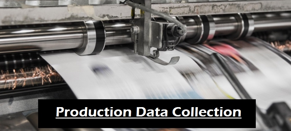 pressroom production application captures production actuals for estimate vs actuals analysis