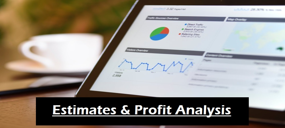 generate profit analysis reports to confirm profit targets are met